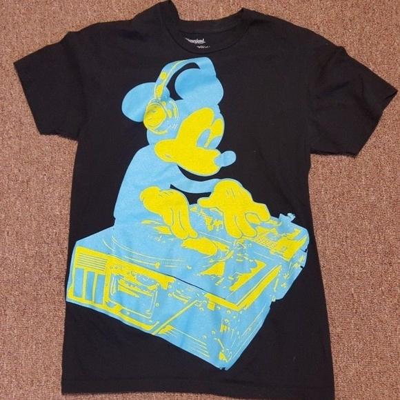 4e994539436fc Disney Shirts | Mickey Mouse Tshirt Neon Dj Turntable | Poshmark